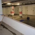 Limpieza y mantenimiento de plazas de garajes en Los Bermejales (Sevilla).